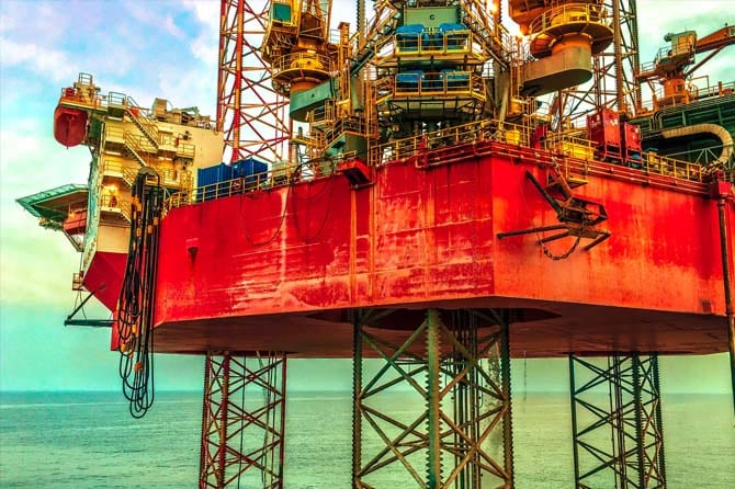 petroleum extraction in the sea