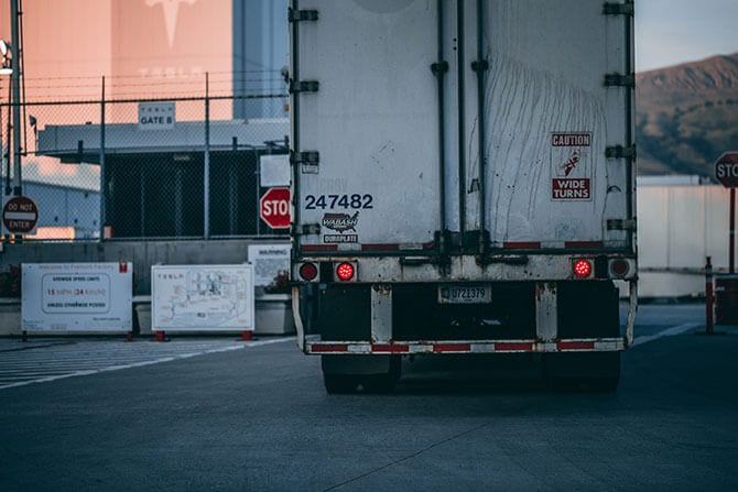 A truck with a climate-controlled storage container, representing the increase in the importance of the cold chain